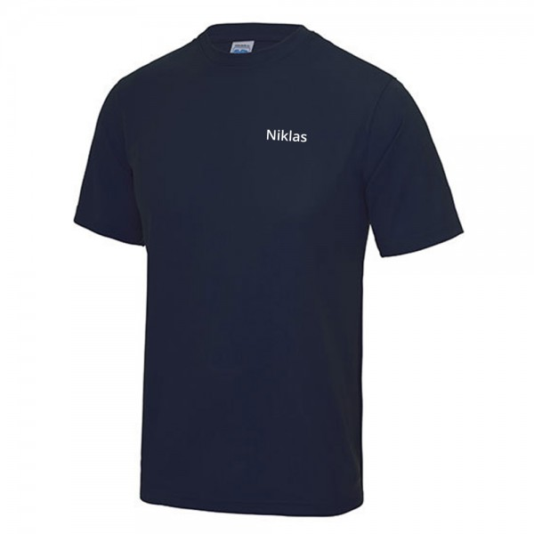 Individueller Druck des Namens für Sport-Shirts